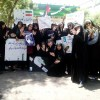 حضور پرشور و شعور دختران عضو انجمنهای اسلامی مدارس مشهد در راهپیمایی روز قدس