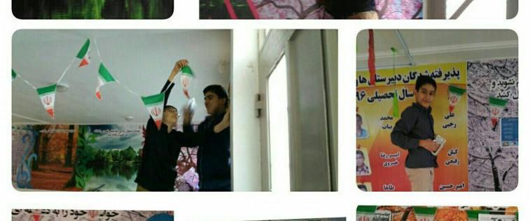 نمایشگاه «مدرسه انقلاب» انجمن اسلامی دبیرستان متوسطه اول طلایهداران شهرستان قوچان
