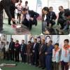 عطر افشانی گلزار شهدا مسجد جامع توسط انجمنی های دبیرستان شهید علیپور شهرستان کلات