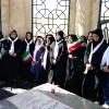برگزاری همایش پیاده روی ویژه دختران انجمن های اسلامی دانش آموزان شهرستان خواف با عنوان «در مسیر ظهور با شهدا»