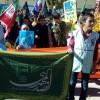 حضور پرشور انجمنی های سرولایت در راهپیمایی ۱۳ آبان به روایت تصویر
