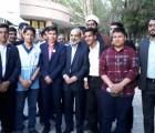 تقدیم مطالبات جنبش دانش آموزی به ریاست سازمان صدا و سیما توسط دانش آموز فریمانی عضو قرارگاه ملی اتحادیه