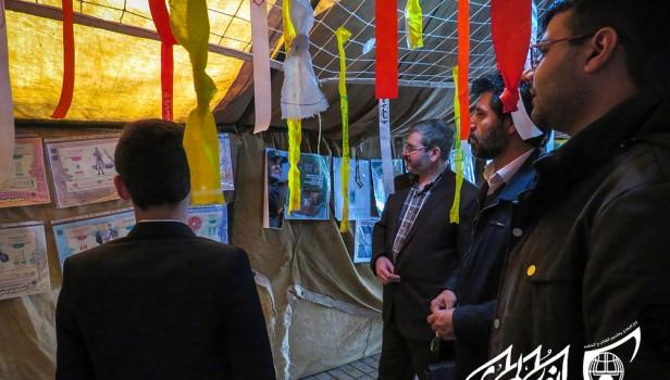 بازدید مدیر رصد و تحلیل شبکه پشتیبان اتحادیه استان از نمایشگاه «مدرسه انقلاب» اتحادیه سرخس