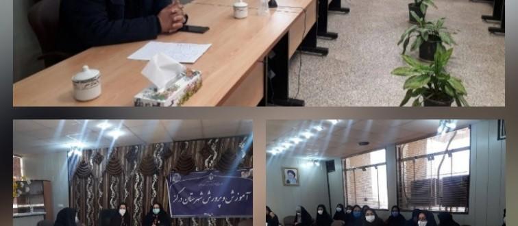 برگزاری جلسه همفکری برپایی «نمایشگاه های مدرسه انقلاب» انجمن های اسلامی مدارس دخترانه درگز