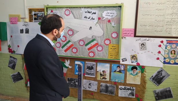 بازید مسئول اتحادیه خراسان رضوی از نمایشگاه های «مدرسه انقلاب» انجمن های اسلامی مدارس تایباد