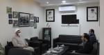 دیدار مسئول اتحادیه انجمن های اسلامی دانش آموزان با مدیرکل کتابخانه های عمومی خراسان رضوی