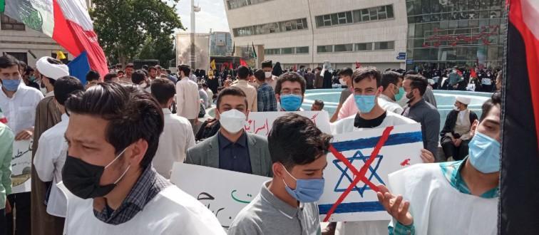 حضور پرشور انجمنی های مشهد در اجتماع حمایت از مظلومان مقاوم فلسطین