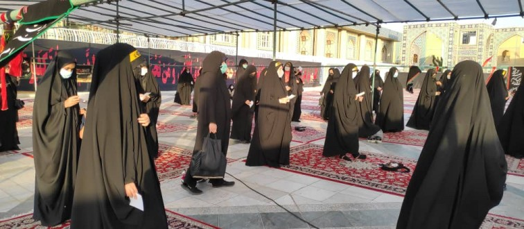 عزاداری دهه دوم محرم انصارالمهدی های مشهد در حرم مطهر رضوی